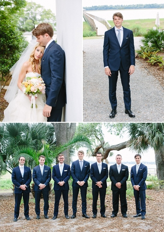suit and tie groom and groomsmen look
