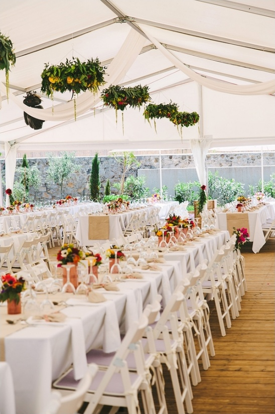 family style seating under outdoor tents