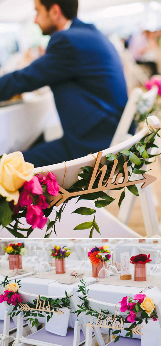 his and hers wooden wedding signs