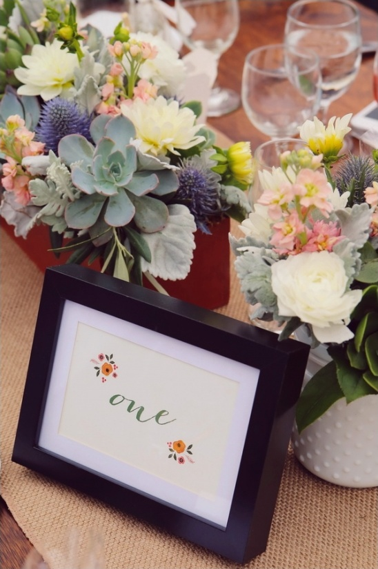 framed table numbers