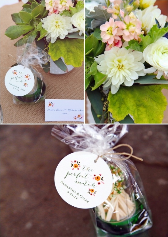the perfect match wedding favors