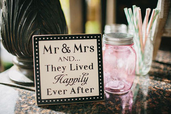 they lived happily ever after sign