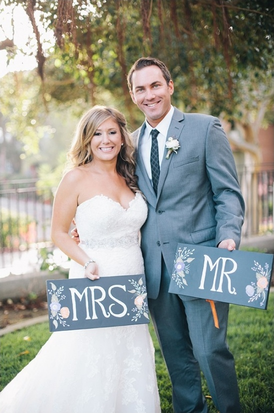mr and mrs chalkboard signs