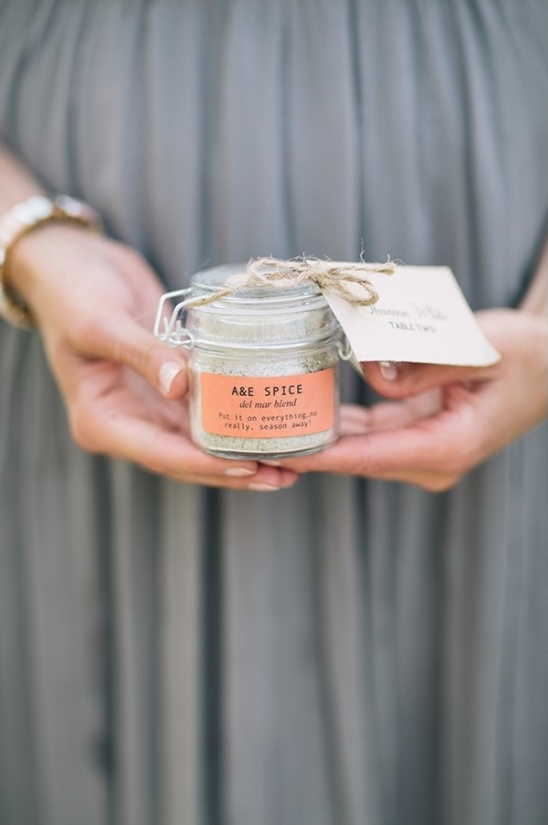 spice jar wedding favors