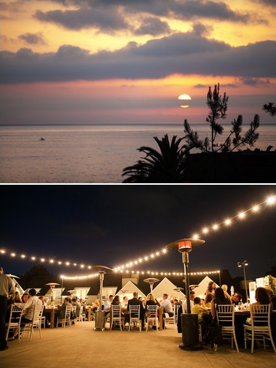 sunset dinner reception