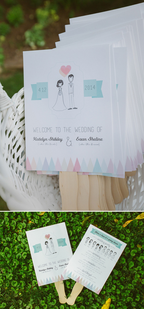 wedding fan programs designed by the bride