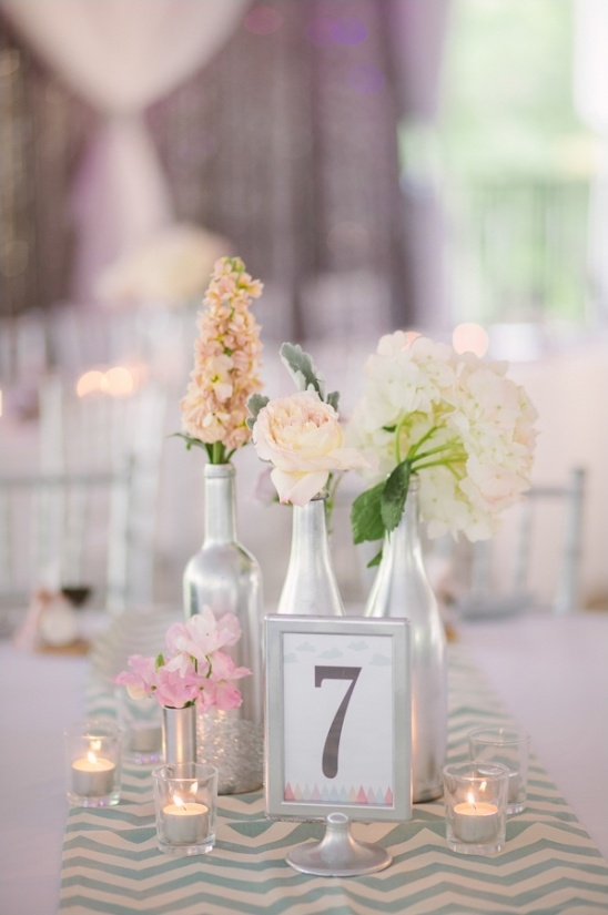 modern silver table decor
