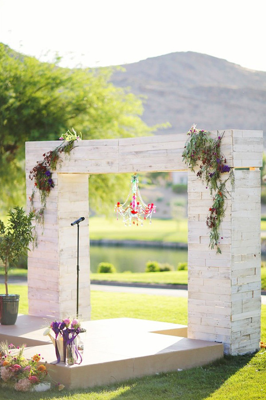 wood structure ceremony arch
