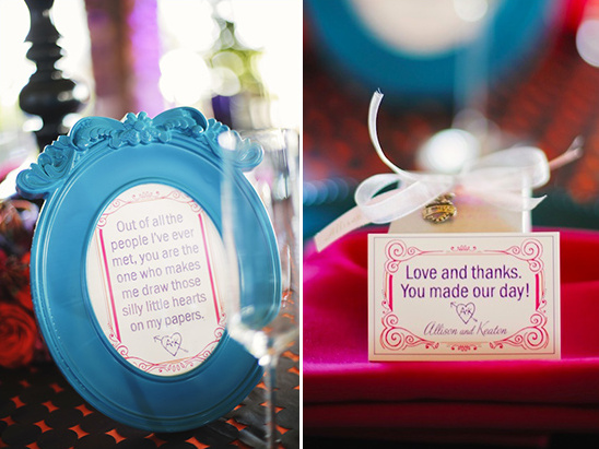 favors and cute sign