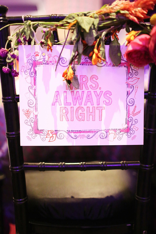 mrs always right chair sign