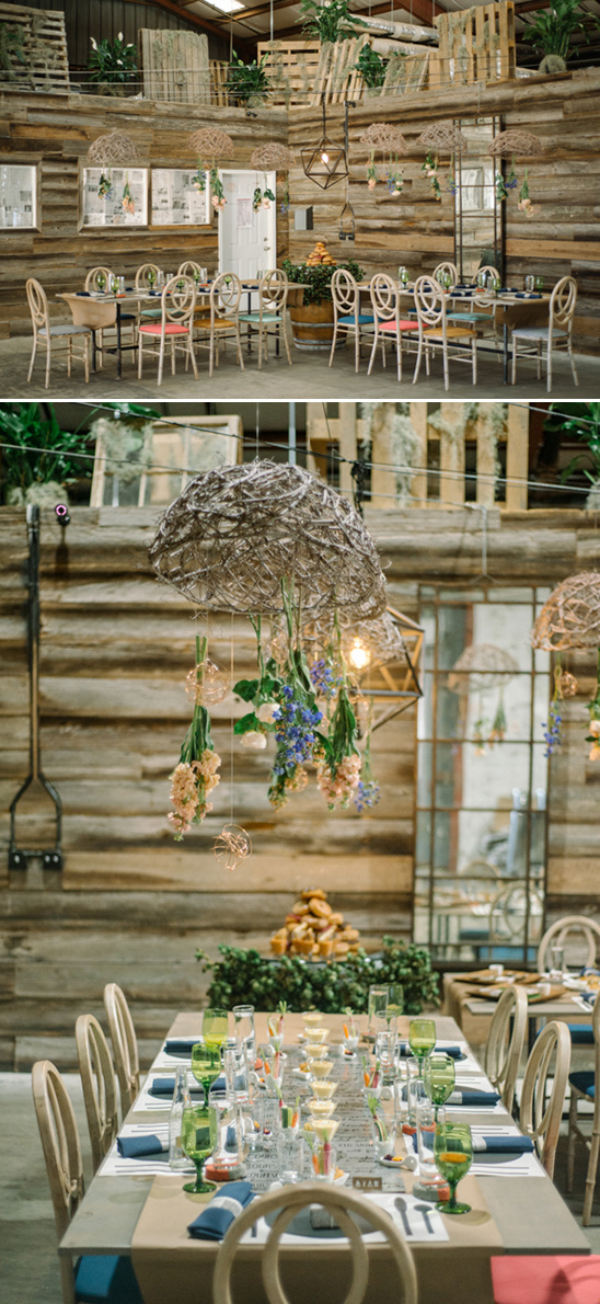 rustic and modern rehearsal dinner idea