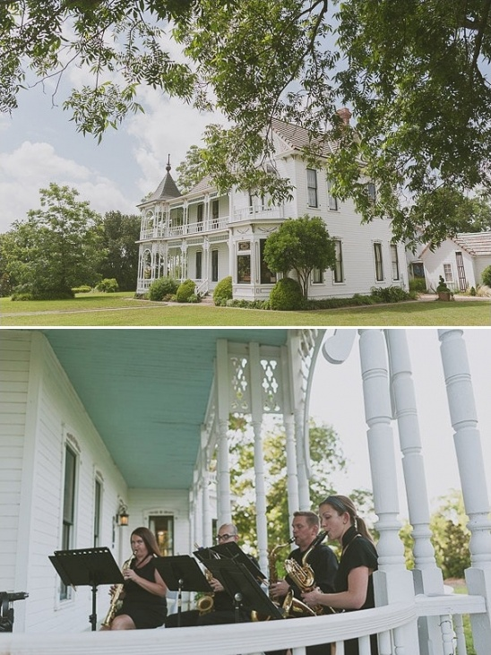 saxophone quartet at Barr Mansion