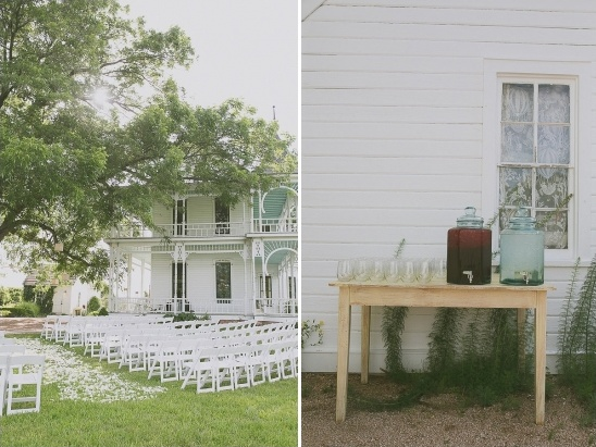 refreshments and outdoor ceremony