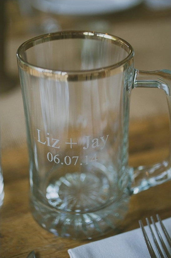 engraved wedding beer stein