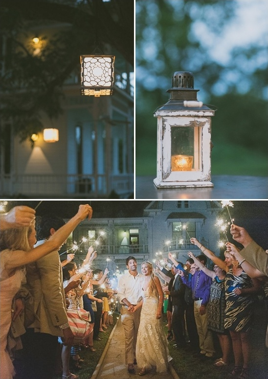 lantern lit reception and sparkler exit