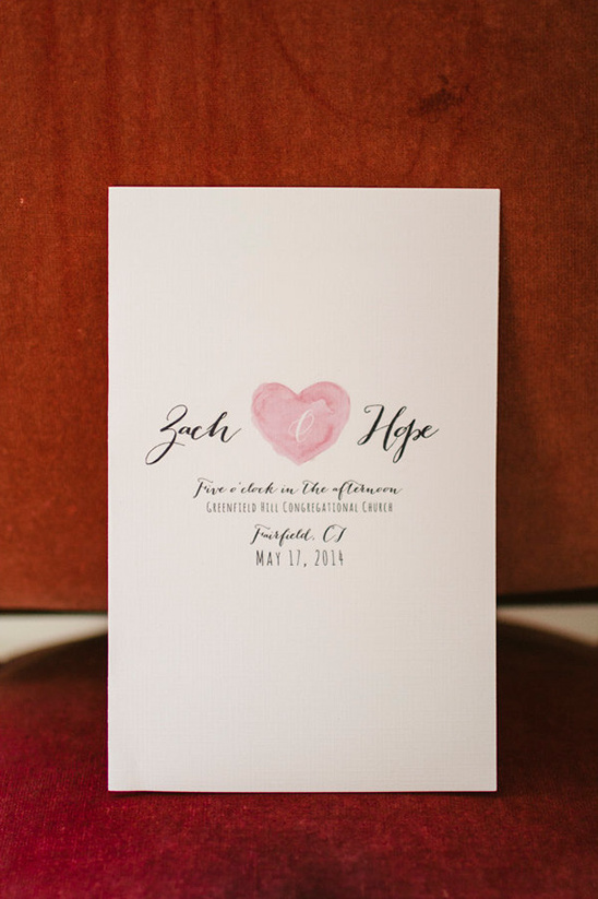 water color heart wedding stationery