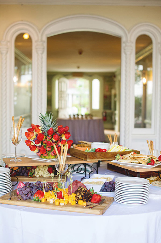fruit meat and cheese appetizer bar