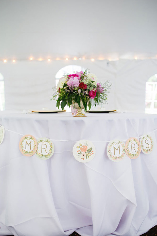 mr and mrs table banner