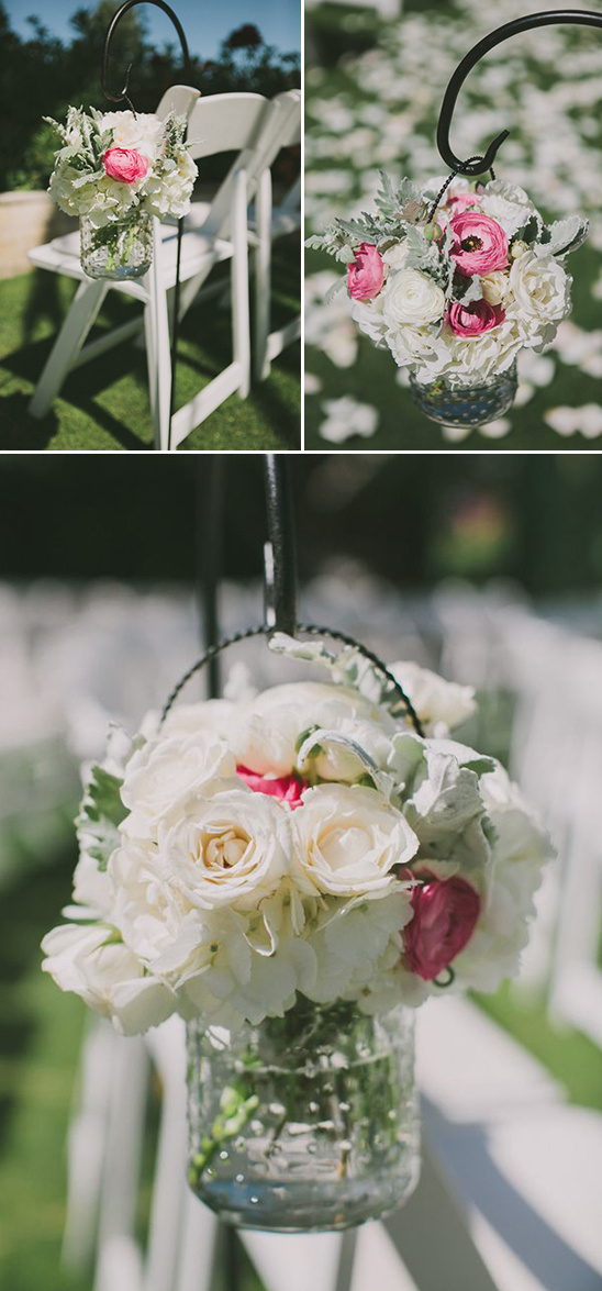hanging floral aisle decor