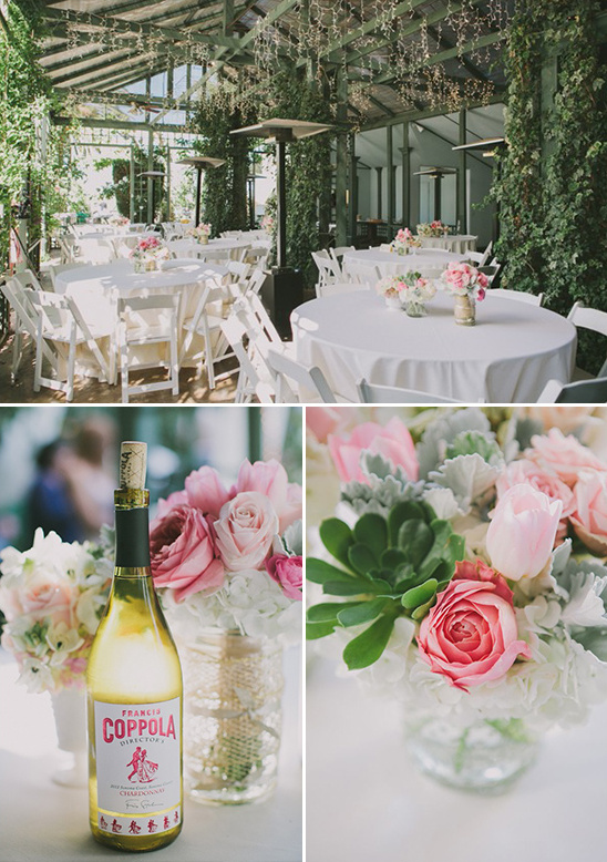 Sonoma garden wedding reception