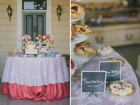 cake and pie table
