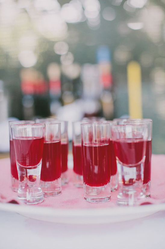 infused vodka for traditional wedding shots