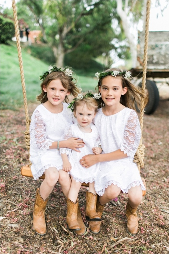 lacy flower girls dresses