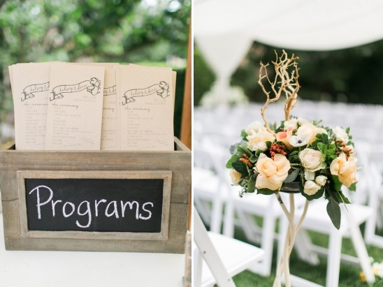 floral aisle decor and program box