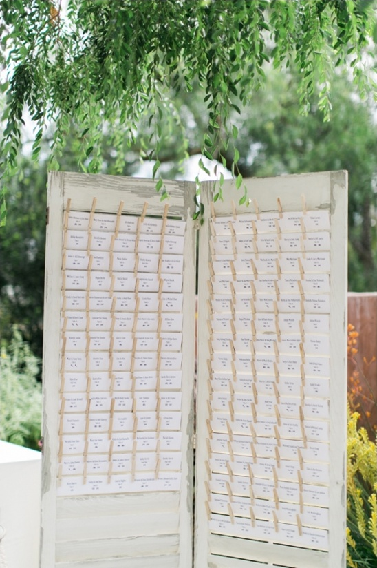 french door escort card station