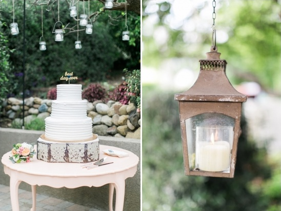 lantern lit cake table