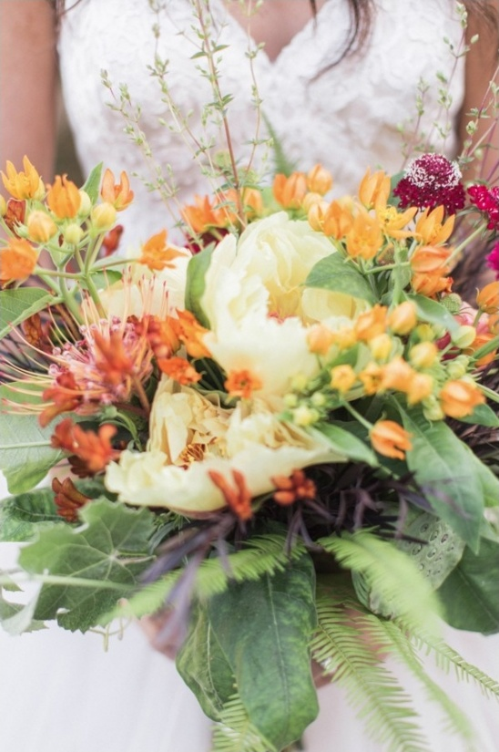 fall themed bridesmaid bouquet