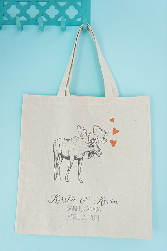 moose love wedding welcome bag