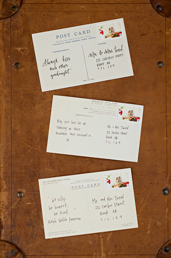 love notes on postcards