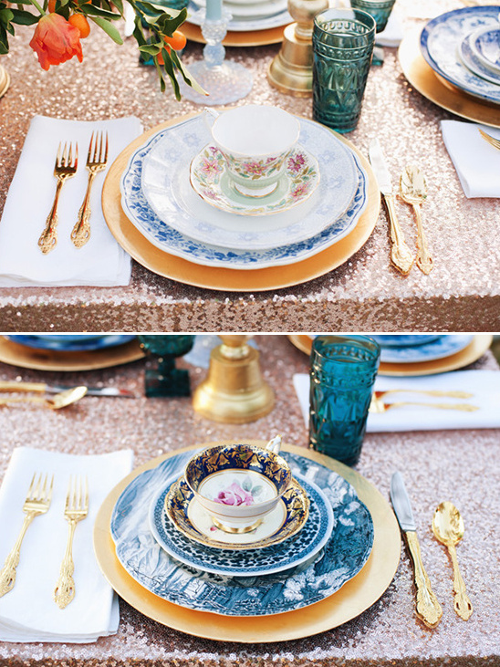 teacup vintage place settings