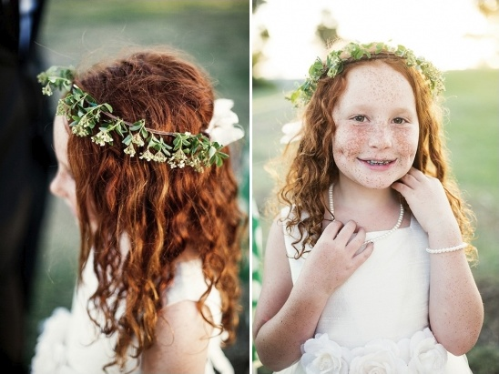 flower girl with floral halo