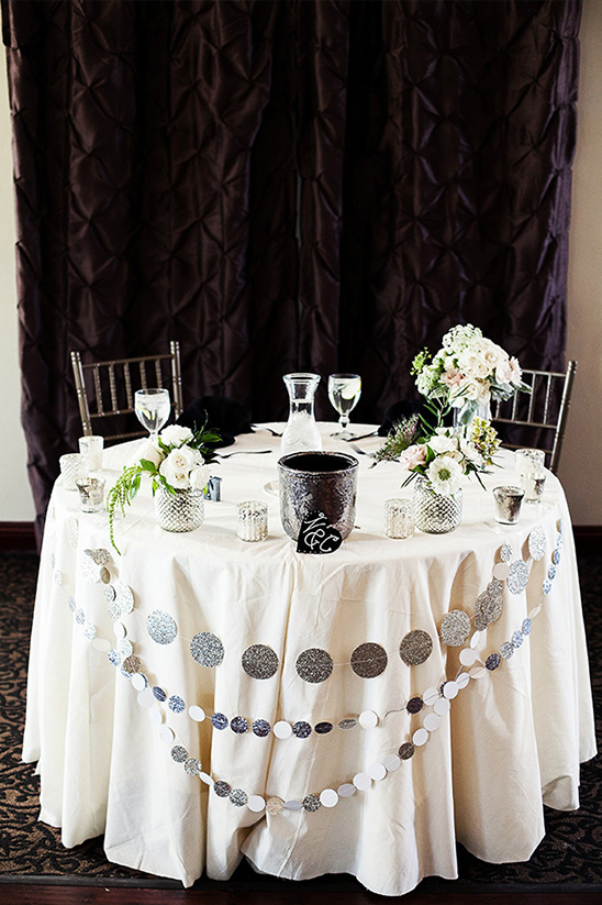 silver sweetheart table