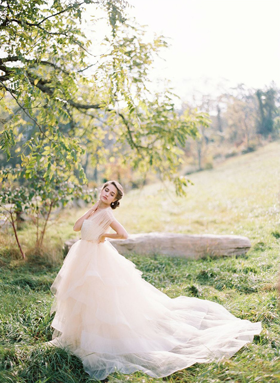 whimsical ivory wedding gown