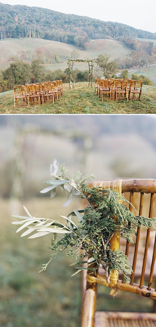 evergreen and olive chair florals