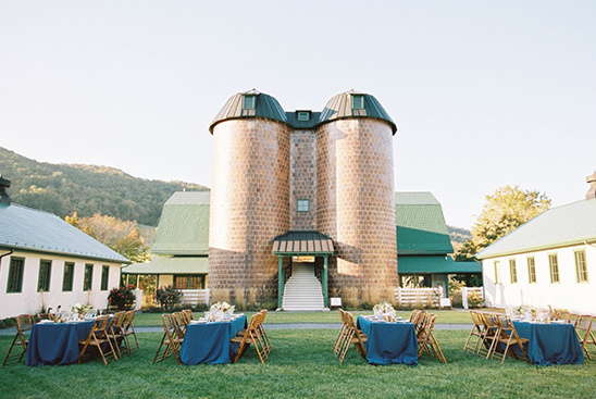 outdoor wedding reception at the old dairy