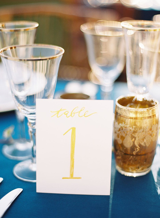 yellow printed table numbers