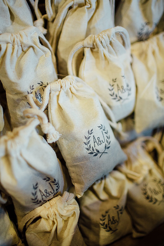 custom stamped favor bags