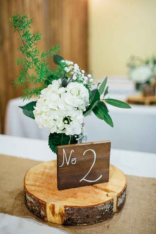 wood slice and wood block table numbers