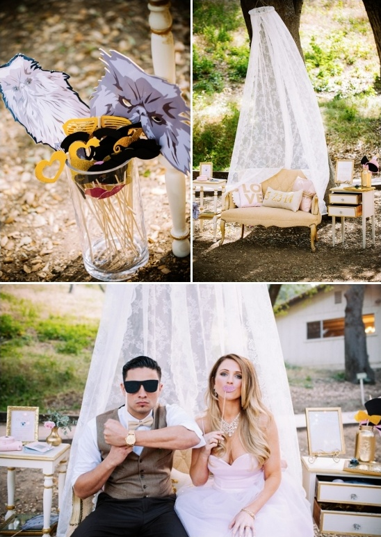 fun photobooth props and cute photobooth backdrop