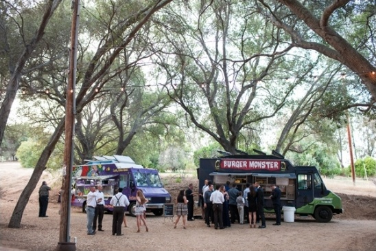 food truck catered wedding