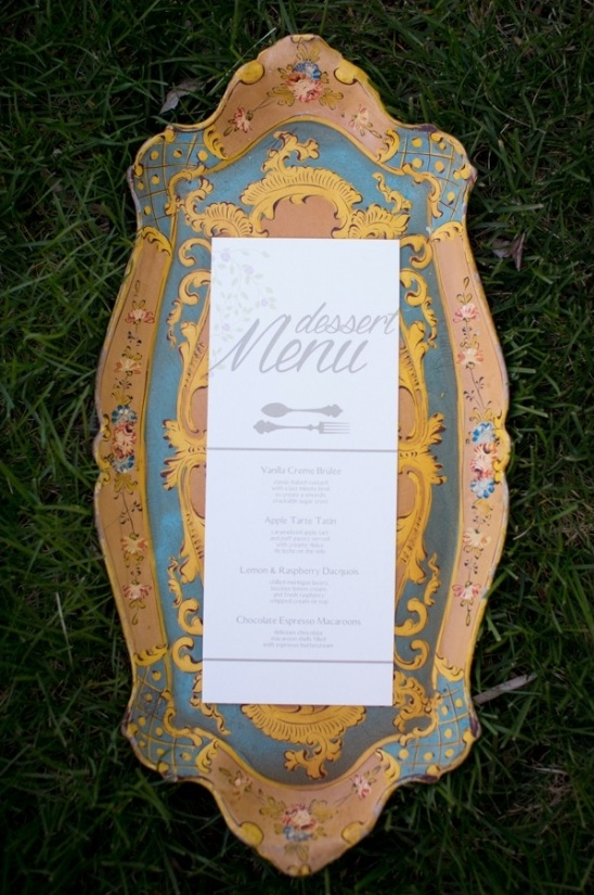 elegant dinner menu design