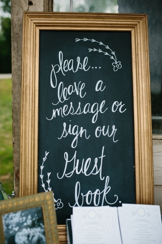 sign our guestbook chalkboard sign