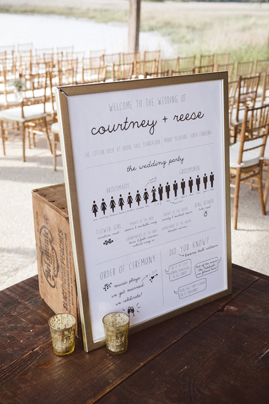 cute illustrated wedding ceremony program