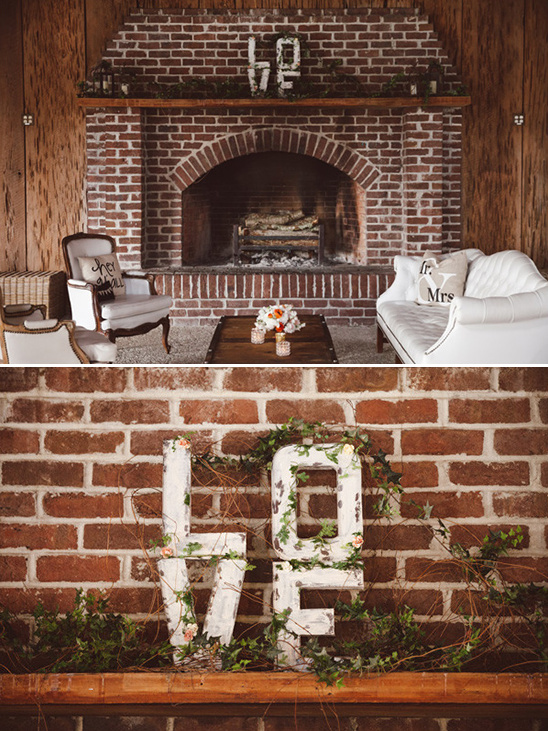 rustic love block letters