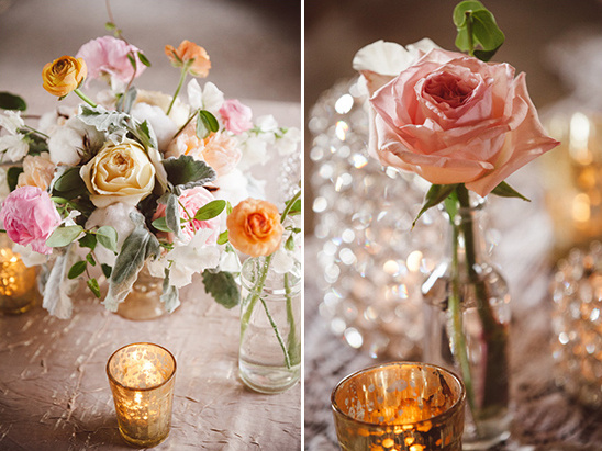 garden rose centerpieces