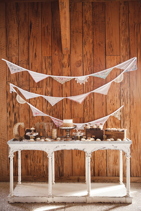cute rustic cake table